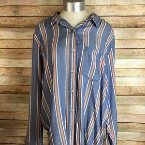 Universal Thread Striped Shirt